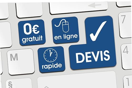 devis en ligne vitrine de magasin à Falaise